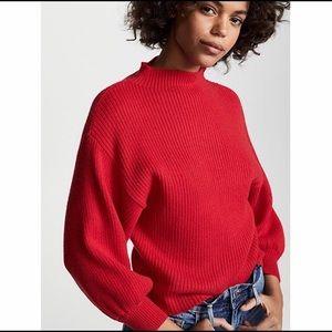 Anthropologie Line Dot Sweater